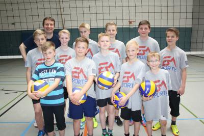Foto zu Meldung: Volleyball U14 souverän Meister