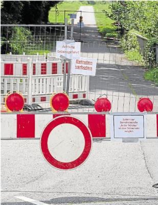 Foto zur Meldung: Ortsgemeinde: Radweg ist gesperrt