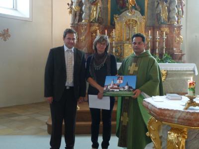 Foto zur Meldung: Pfarrer John Kodiamkunnel verlässt die Pfarrei Prackenbach/Krailing