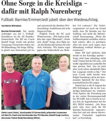 Foto zur Meldung: Trainerwechsel im Herrenfussballbereich