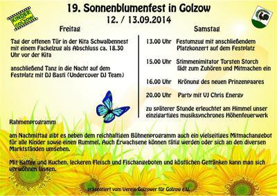 Foto zur Meldung: 19. Sonnenblumenfest in Golzow am 12. und 13. September