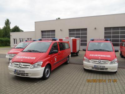 Vorschaubild zur Meldung: Neue Fahrzeuge für die Oranienburger Feuerwehren