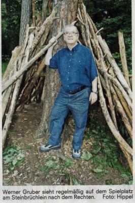 Das Steinbrüchlein ist ihm ans Herz gewachsen Foto NN Hippel vom 14.08.14