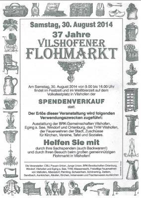 Vorschaubild zur Meldung: 37. Vilshofener Flohmarkt