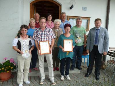 Foto zur Meldung: In 25 bzw. 15 Jahren zu Gast in der Gemeinde Prackenbach