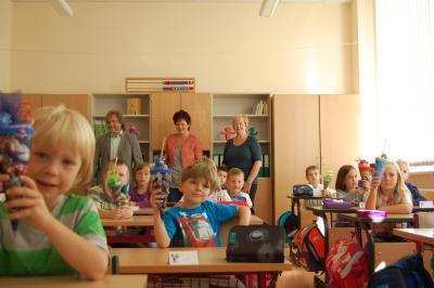 """Foto zur Meldung: Aktion: """"Schultüte"""" - der 1. Schultag in der Carl-Anwandter-Grundschule Calau"""