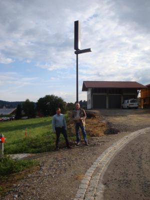 Foto zu Meldung: Das neue Baugebiet mit 5 Solarleuchten ausgestattet
