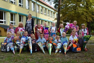Foto zu Meldung: Einschulung in der Grund- und Oberschule Schenkenland