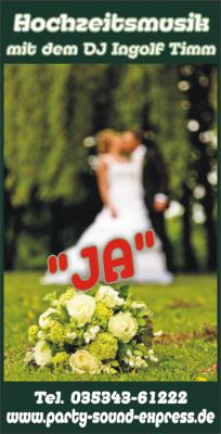 Hochzeitsmusik mit DJ Ingolf