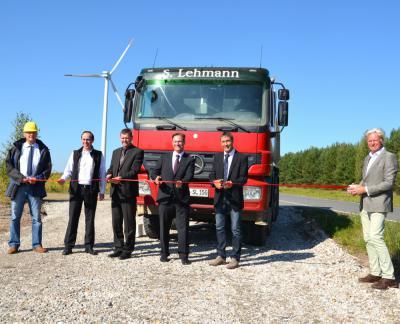Vorschaubild zur Meldung: Start des Repowerings Windpark Klettwitz offiziell vollzogen