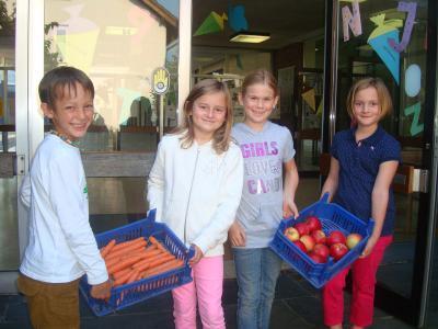 Foto zur Meldung: EU-Schulobst - und gemüse: Wir sind dabei!