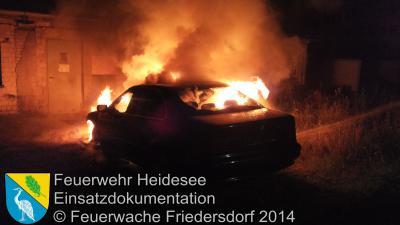 Foto vom Album: Einsatz 55/2014 am 03.09.2014 > PKW in Vollbrand