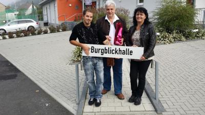 Foto zur Meldung: Ortsgemeinde: Namensgebung Burgblickhalle