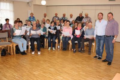 Foto zur Meldung: Mitwirkung des Frauenchors im Seminar für Chorleiter/innen und interessierte Sänger in Schenklengsfeld