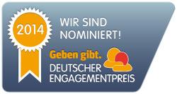 Vorschaubild zur Meldung: Nominierung für den Deutschen Engagementpreis 2014