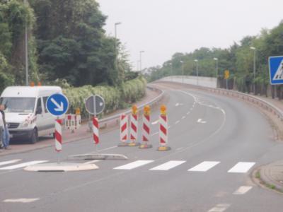 Foto zu Meldung: Fußgänger aufgepasst - Umbau- und Reparaturarbeiten an der Schillerstraße