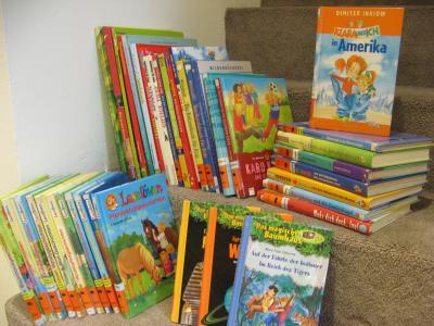 Foto zur Meldung: Neue Bücher für die Schulbücherei