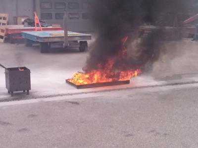 Foto zur Meldung: Brandschutzunterweisung bei der Fa. Andritz