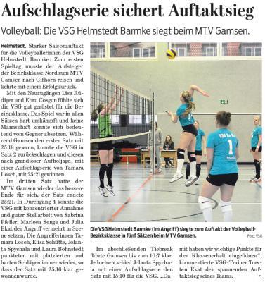 Foto zur Meldung: Volleyball - Erfolg im Auftaktmatch