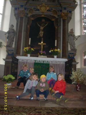 Foto zur Meldung: Re(h)-Kids in der Wechselburger St. Otto Kirche