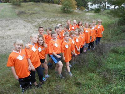 Foto zur Meldung: 14 Medaillen für die Elbtalgrundschüler beim Herbstcrosslauf in Breese
