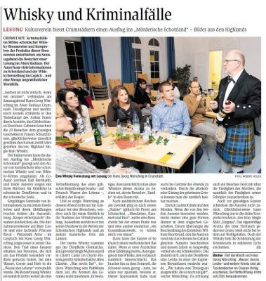 "Presseartikel ""Whisky und Kriminalfälle"""