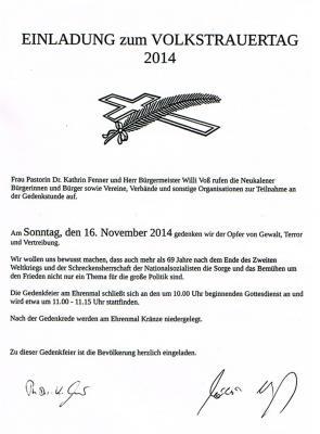 Foto zur Meldung: Einladung zum Volkstrauertag
