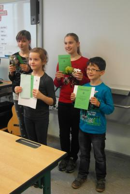 Foto zur Meldung: Ehrung der Teilnehmer an der Matheolympiade