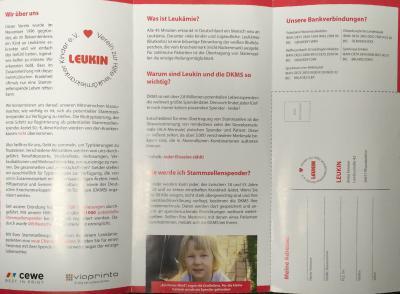 Flyer der Stiftung Leukin