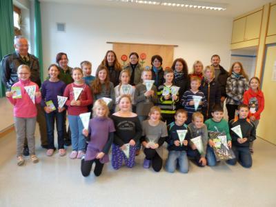 Foto zur Meldung: Prackenbacher Schüler in der Verkehrswirklichkeit
