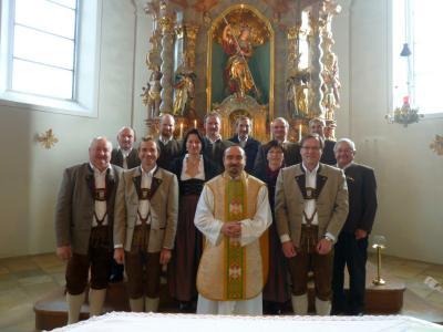 Foto zur Meldung: Pfarrer Drexler - Vergelt´s Gott für diese erhebliche musikalische Feier