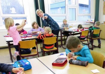 Foto zur Meldung: Vorschulkinder der KITA Halbe erleben erste Schnupperstunden