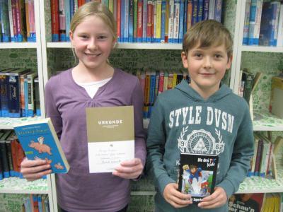 Foto zur Meldung: Vorsicht, Buch! Vorlesewettbewerb der 6. Klassen