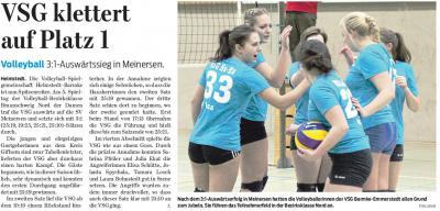 Foto zur Meldung: Siegesserie der Volleyballerinnnen hält an