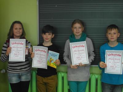Foto zur Meldung: Lesewettbewerb der Klassen 2 - 4