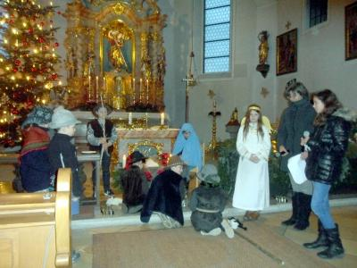 Foto zur Meldung: Kinderchristmette und Christmette in der Pfarrkirche St. Georg