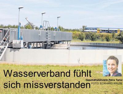 Foto zur Meldung: Wasserverband fühlt sich missverstanden