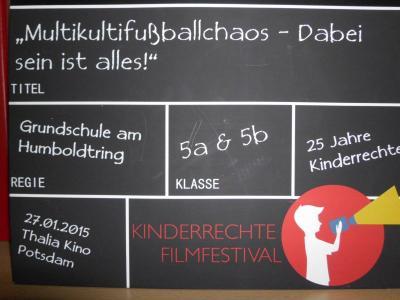 Foto zur Meldung: Kinderrechte-Filmfestival - Filmbeitrag unserer Grundschule