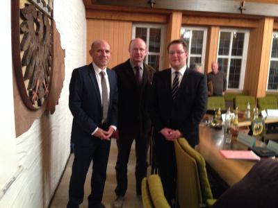 Verbandsleitung neu gewählt - Bürgermeister Dr. Wolf, Kürner, Lauxmann (von links)