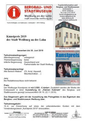 Vorschaubild zur Meldung: Weilburger Kunstpreis