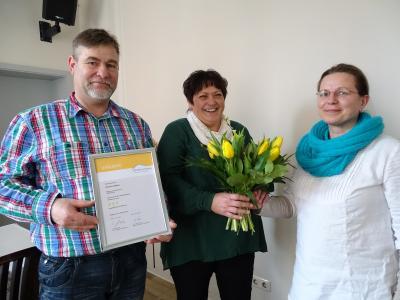 Foto zu Meldung: Gästezimmer der Pension Bülau mit 3 Sternen ausgezeichnet