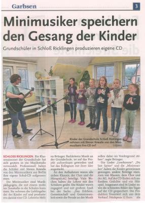 Minimusiker speichern den Gesang der Kinder
