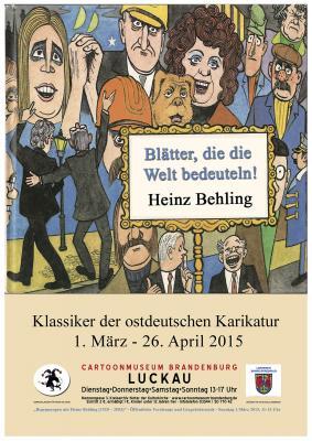 Plakat zur Ausstellung - Motiv von Heinz Behling