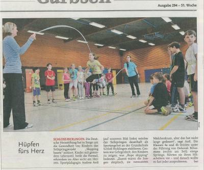 Vorschaubild zur Meldung: Leine-Zeitung: Hüpfen fürs Herz