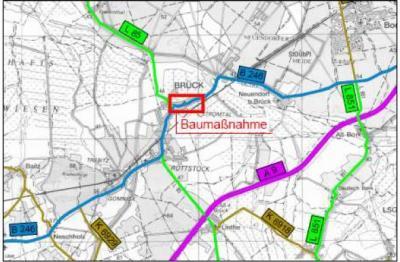 Foto zu Meldung: Verkehrsrechtliche Einschränkungen ab 19.06.2017 Brück: Str. des Friedens B 246/ Brandenburger Str. L85