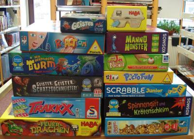 Foto zu Meldung: 13 neue Gesellschaftsspiele ausleihbereit