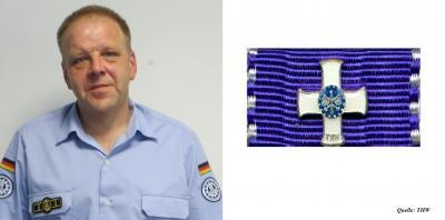"""Foto zur Meldung: """"THW Ehrenzeichen in Silber"""" für einen sehr guten Freund und Partner"""