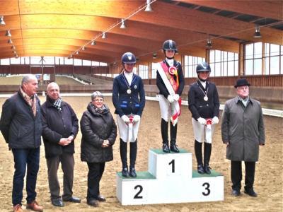 Foto zur Meldung: Hallenchampionat 2015 in Tremsdorf - tolle Erfolge von Lilly Bendig und Paula Franz