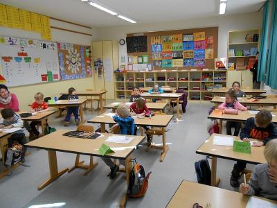 Foto zur Meldung: Schnupperunterricht für die Vorschulkinder