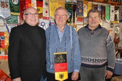 Ludwig Wiesinger, Rudi Fenzl und Xaver Wintersberger (von links)